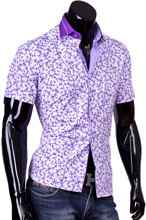 Цветные рубашки мужские