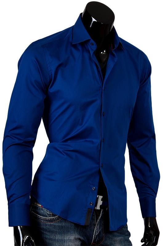 Темно синяя мужская рубашка Aleх Dandy
