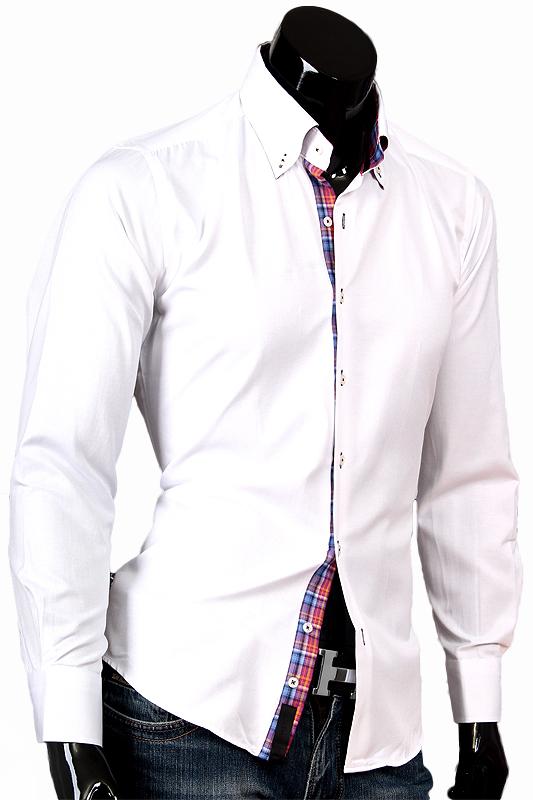 Белая рубашка Aleх Dandy с воротником баттен-даун
