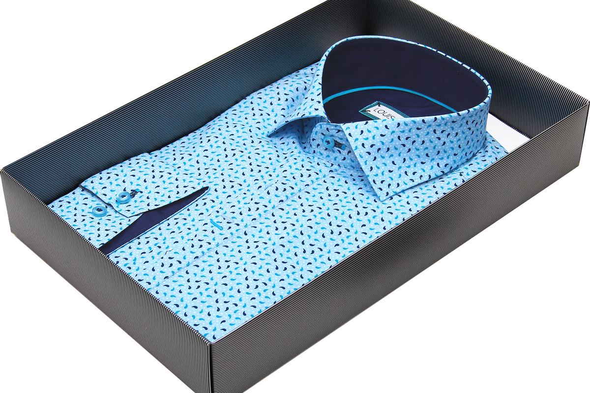 Рубашка мужская Louis Fabel цвета морской волны