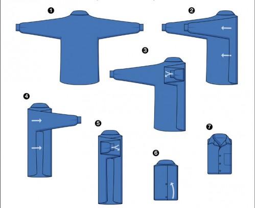 Как правильно сложить рубашку фото