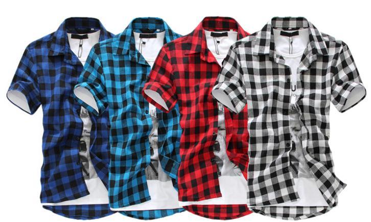 Клетчатые рубашки мужские фото