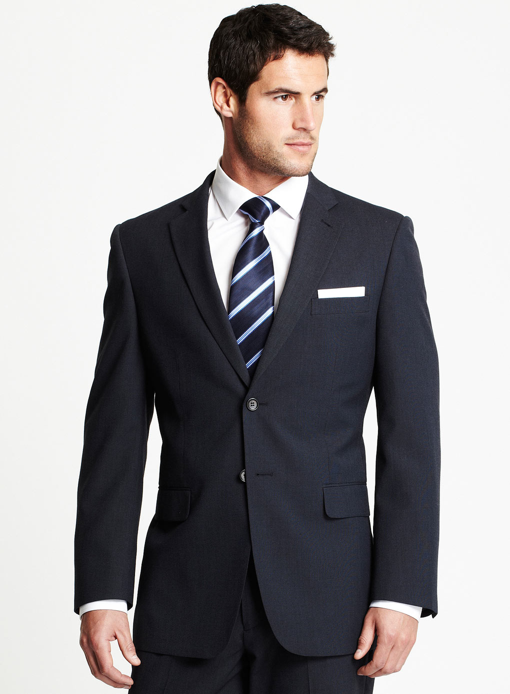 Рубашка под синий костюм фото