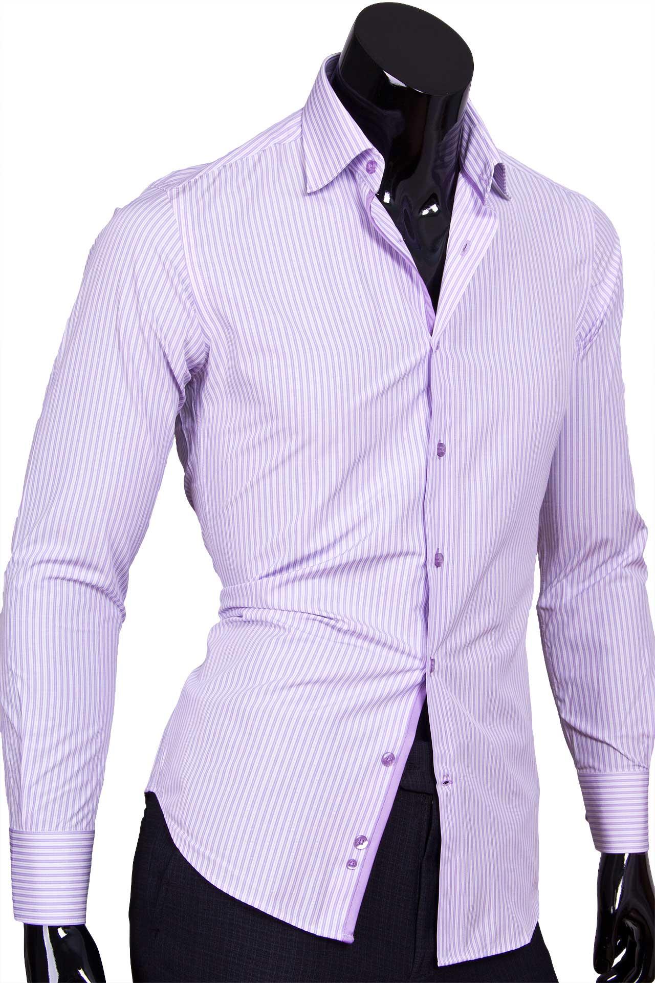 Сиреневые мужские рубашки фото