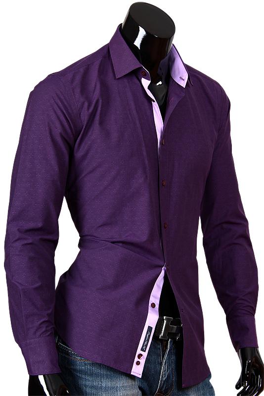 Фиолетовые мужские рубашки фото