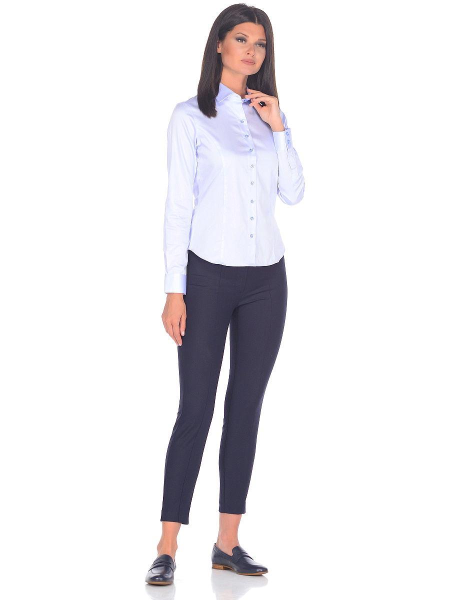 a137b8bc676 Женская рубашка Venturo приталенная цвет голубой однотонный купить в Москве  недорого
