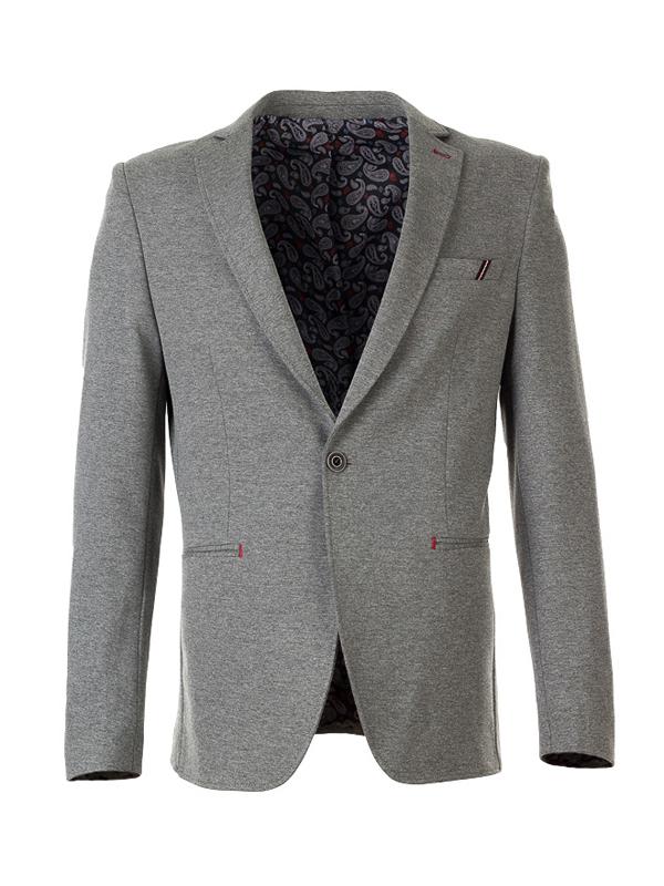 Трикотажный серый мужской пиджак Rvvaldi rj-2019-60 535f75cbf3f